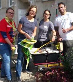 13. Freiwilligentag - sonniger Einsatz für Halle